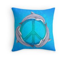 Dolphin Peace Throw Pillow