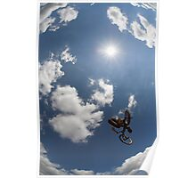 BMX rider jumping Poster