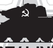 Stalin's Snowplow Sticker