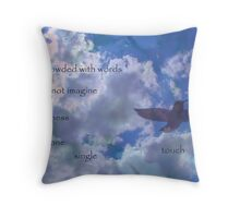 the universe is in your touch Throw Pillow