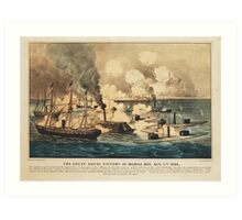 Great Naval Victory in Mobile Bay Aug 5th 1864 Art Print