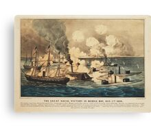 Great Naval Victory in Mobile Bay Aug 5th 1864 Canvas Print