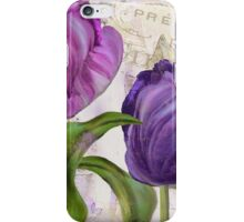 Purple Parrot Tulips iPhone Case/Skin