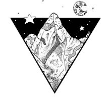 Midnight Geometric Mountains by bblane