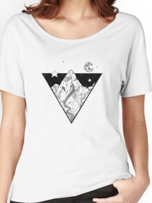 Midnight Geometric Mountains Women's Relaxed Fit T-Shirt