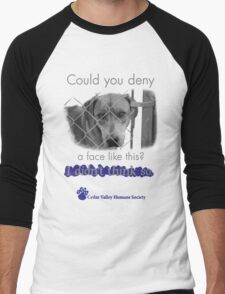 Could you not help these animals? Men's Baseball ¾ T-Shirt