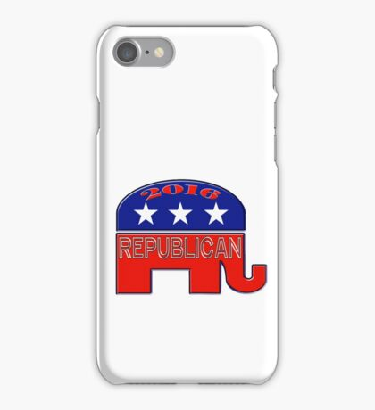 Rebulican Elephant 2016 Elections USA iPhone Case/Skin