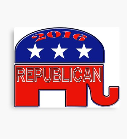 Rebulican Elephant 2016 Elections USA Canvas Print
