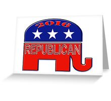 Rebulican Elephant 2016 Elections USA Greeting Card
