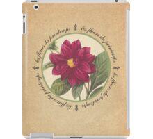 Les Fleurs du Printemps Purple iPad Case/Skin