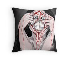 FLESH AND BONE Throw Pillow