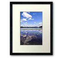 Sunken Dock Framed Print
