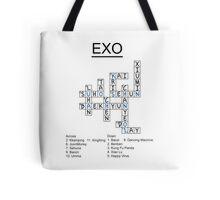 Exo Crossword Puzzle Tote Bag