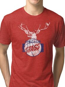 Chicago Stags - Blue/Red Tri-blend T-Shirt