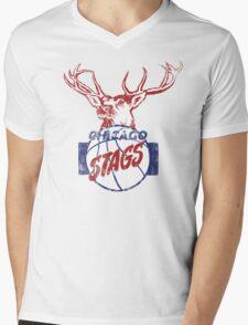 Chicago Stags - Blue/Red Mens V-Neck T-Shirt