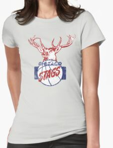 Chicago Stags - Blue/Red Womens Fitted T-Shirt