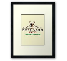 Deadly Premonition - Great Deer Yard Hotel Framed Print