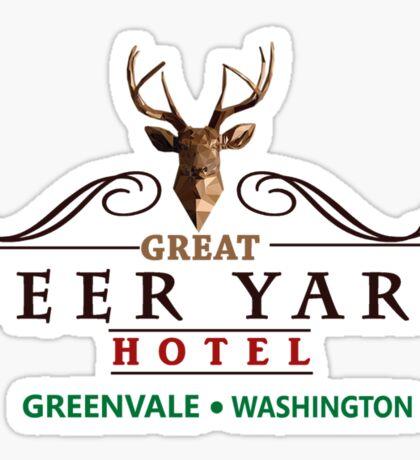 Deadly Premonition - Great Deer Yard Hotel Sticker