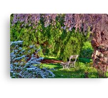 Waiting for You in the Garden Canvas Print