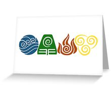 Water, Earth, Fire, Air Greeting Card
