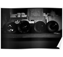 A Camera and it's Lenses Poster