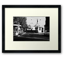 BW Germany Border posts East  West Berlin 1970s Framed Print