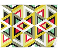 Stripy Triangle Pattern Poster