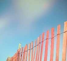 Beach Fence by Olivia Joy StClaire
