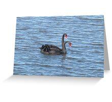 Double headed swan? Greeting Card