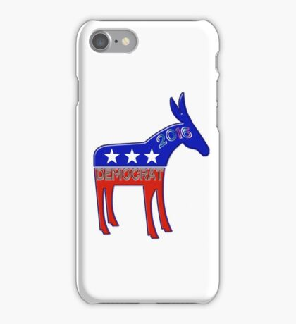 Democratic Donkey - 2016 Elections USA iPhone Case/Skin