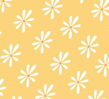 Sunny Yellow and White Flowers by Whimsydesigns