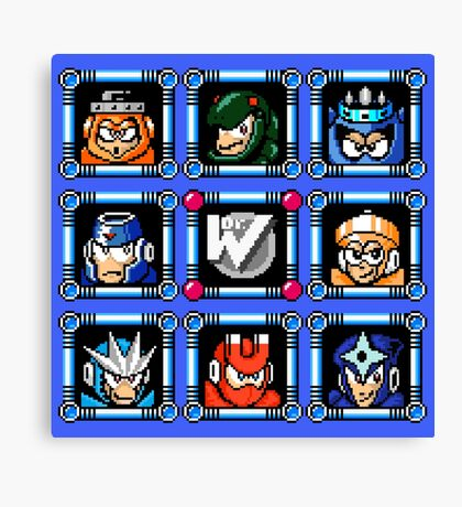 Megaman 3 Boss Select Canvas Print