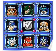 Megaman 3 Boss Select Poster