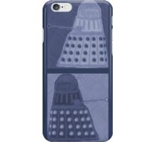 Daleks in negatives - blue iPhone Case/Skin