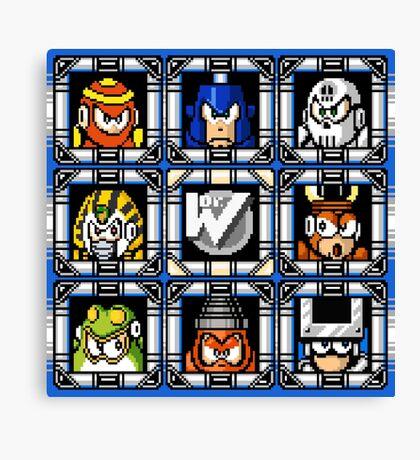 Megaman 4 Boss Select Canvas Print