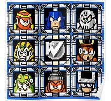 Megaman 4 Boss Select Poster