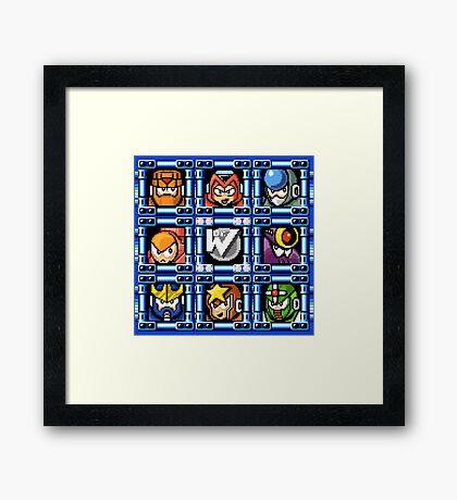 Megaman 5 boss select Framed Print