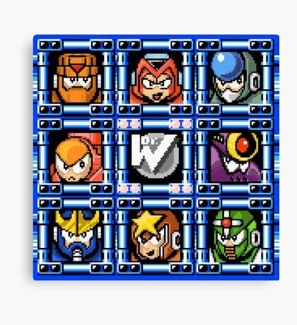Megaman 5 boss select Canvas Print