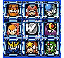 Megaman 5 boss select Photographic Print