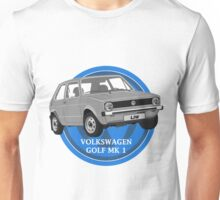 Volkswagen Golf Mk 1 Design Unisex T-Shirt