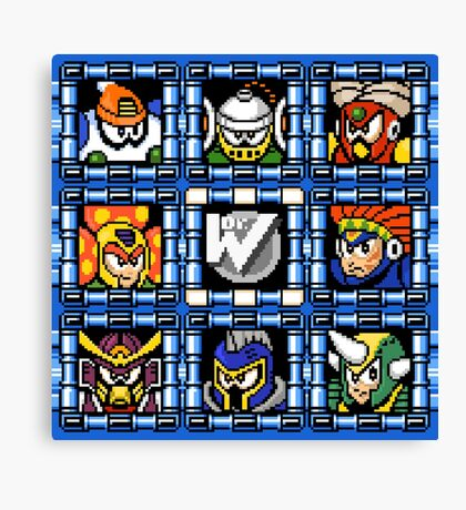 Megaman 6 boss select Canvas Print