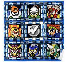 Megaman 6 boss select Poster
