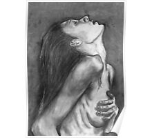 Looking Up in Charcoal Poster