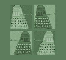 Daleks in negatives - green by Lenka24