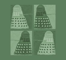 Daleks in negatives - green by Lenka24