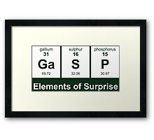 Elements of Surprise - Periodic Table Framed Print