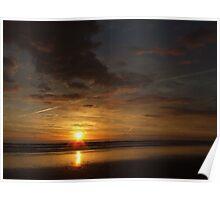 Sunset trail, Aldinga Beach, South Australia. Poster