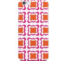 Hot Pink Orange Bold Modern Repeat Pattern iPhone Case/Skin