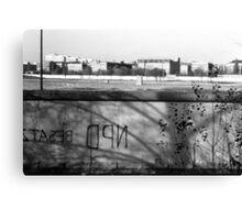 BW Germany Berlin wall 1970s Canvas Print