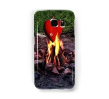 FIRE BURNING ..TEARS OF A CRYING HEART ON FIRE..PICTURE - PILLOW- TOTE BAG-TEE -SCARF ECT. Samsung Galaxy Case/Skin